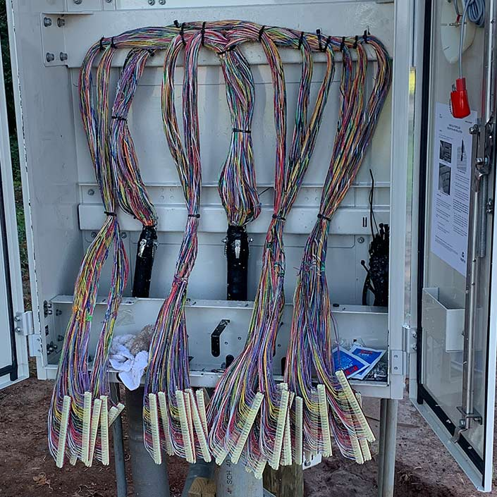 Copper Splicing - After Alamon Outside Plant Services