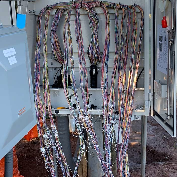 Copper Splicing - Before Alamon Outside Plant Services