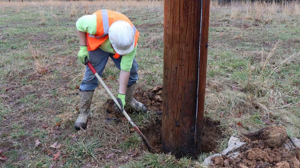 Alamon Utility Pole Inspection - Excavation