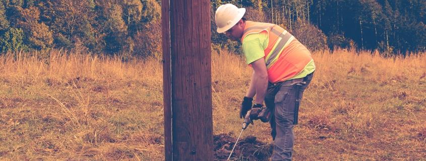Alamon Utility Services Pole Inspection, Treatment and Reinforcement